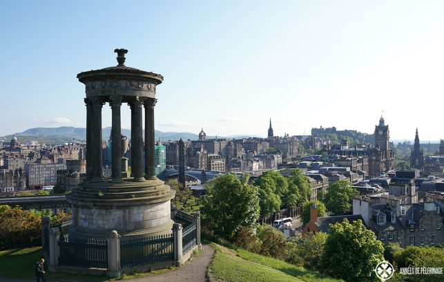 The view of Edinburgh as seen from Carlton Hill, Scotland