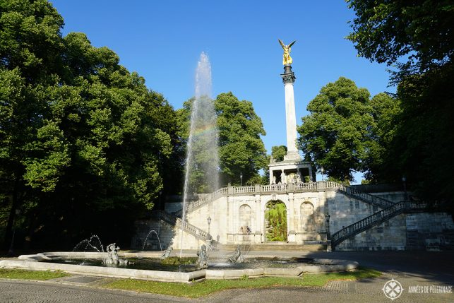 The Friedensengel column in Munich, Germany