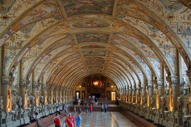 Inside the Munich Residenz castle in the so called Riesensaal