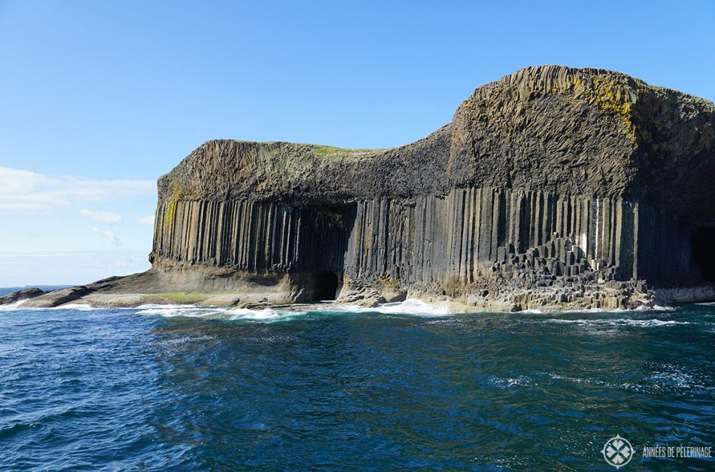 The island of Staffa in Scotland - one of the many tourist attractions