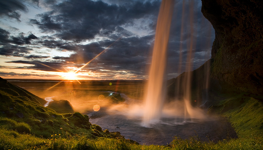 A magical waterfall - part of this Iceland itinerary