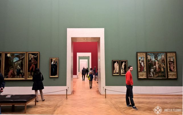 Inside the Alte Pinakothek museum in Munich
