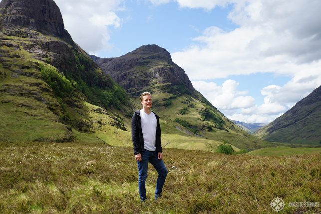 Me in Glen Coe in Scotland. what to pack for scotland? i'd take a lot of layers along as on the pic