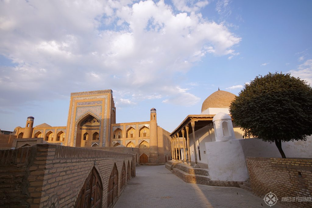 The Palva-Dravoa-ENesemble with its mosque and madrasahs in Khiva, Uzbekistan