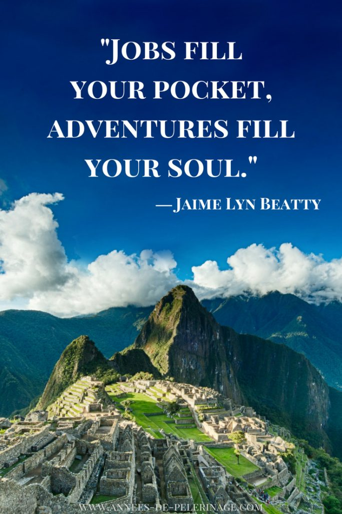 Travel quotes by Jaime Lynn Beatty: Jobs fill your pocket, adventures fill your soul