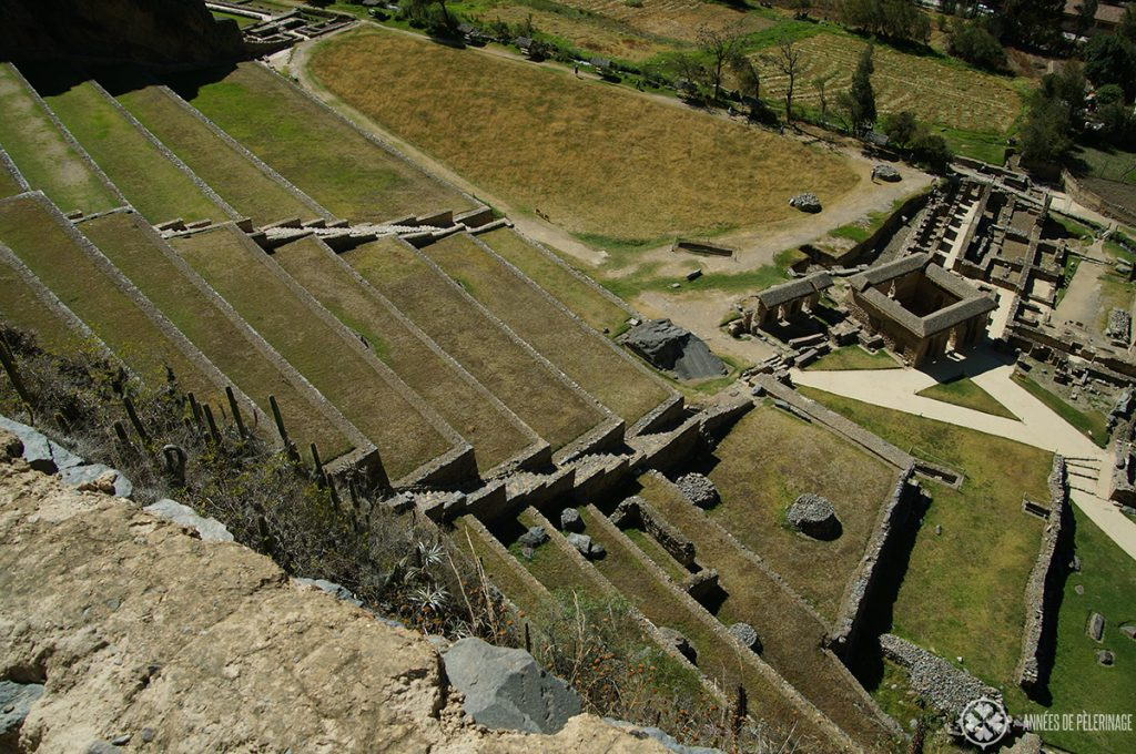 Agricultural terraces in Ollantaytambo, Peru
