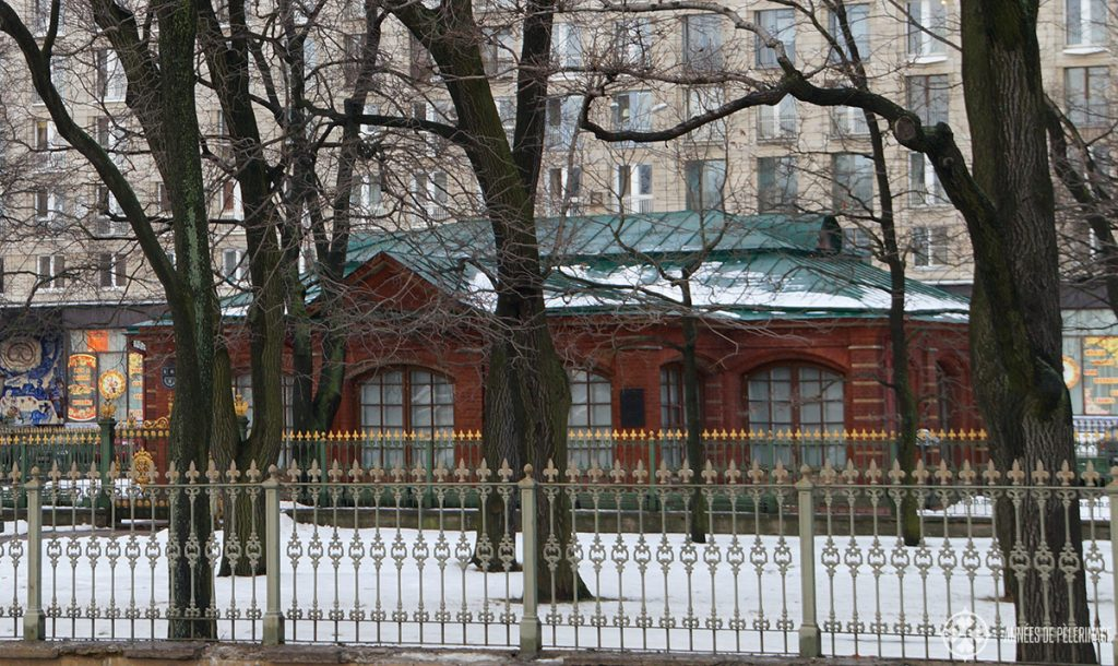 The simple cabin of Tsar Peter the Great in St. Petersburg, Russia