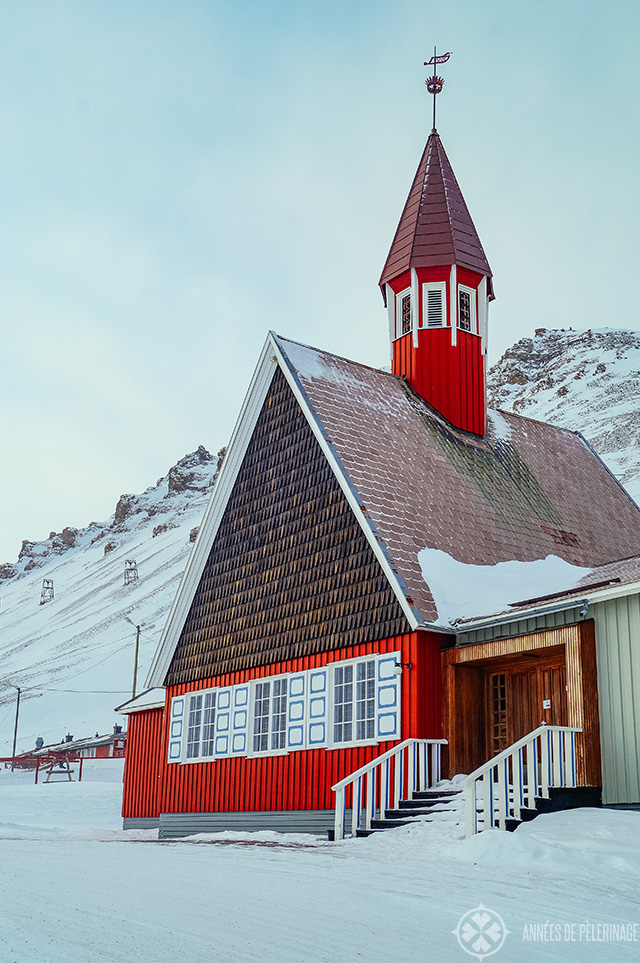 The iconic church of Longyearbyen, Spitsbergen and Number 7 on your things to do in Spitsbergen: Visit the most northern church in the world
