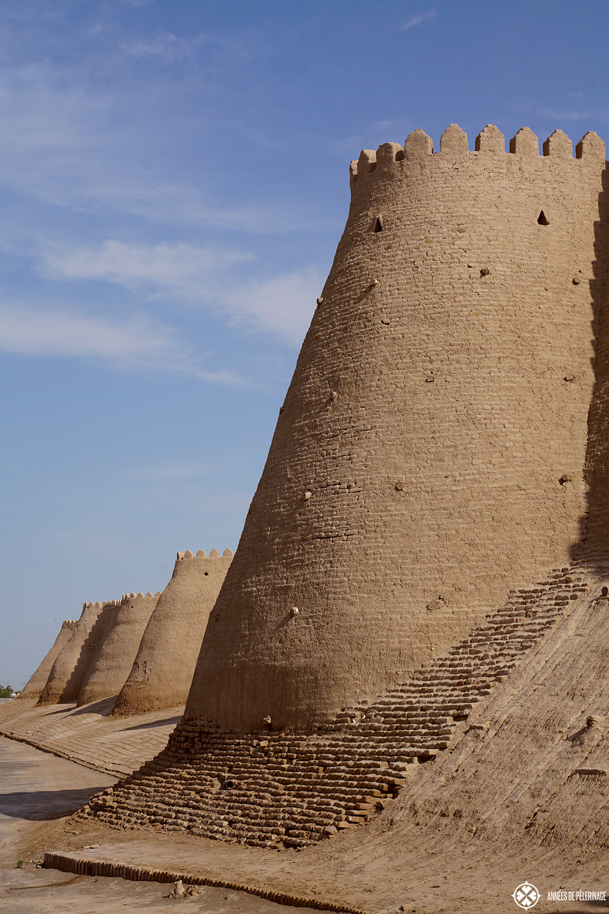 The city wall of Khiva, Uzbekistan