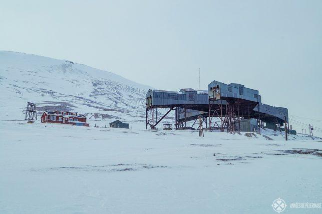 abandonded coal mine in spitsbergen