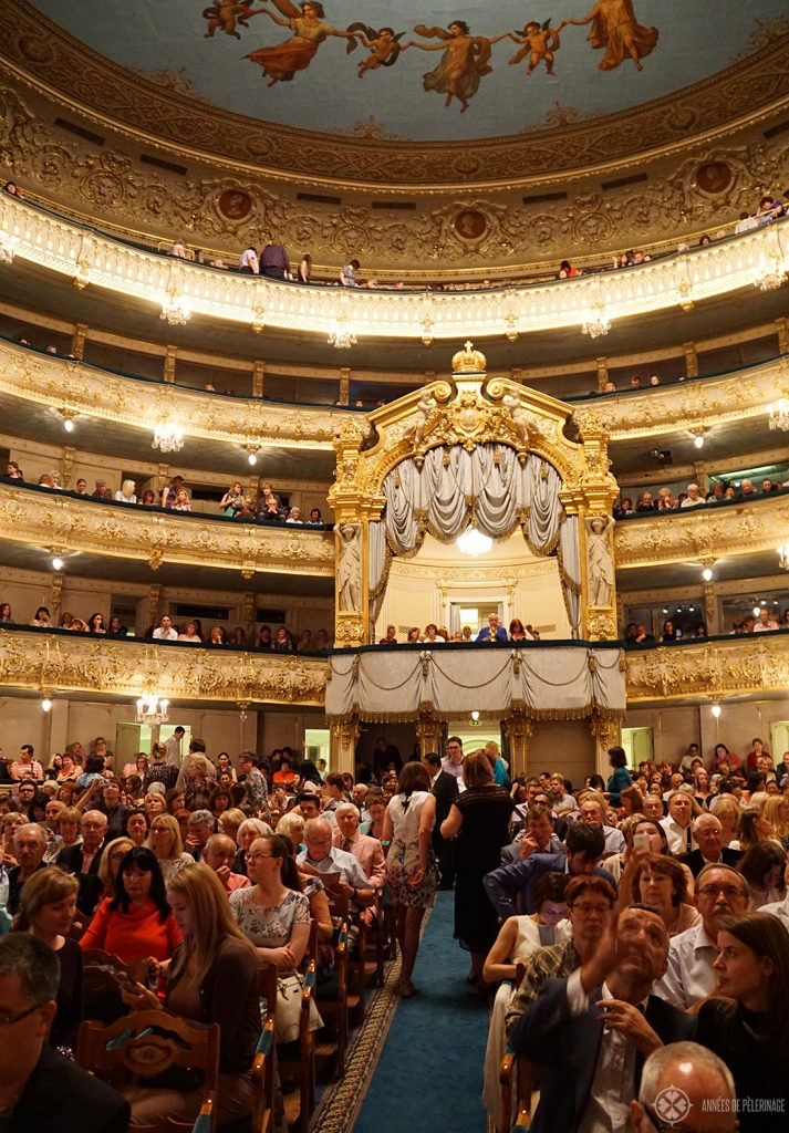 Inside the Mariinsky theater in St. Petersburg, Russia