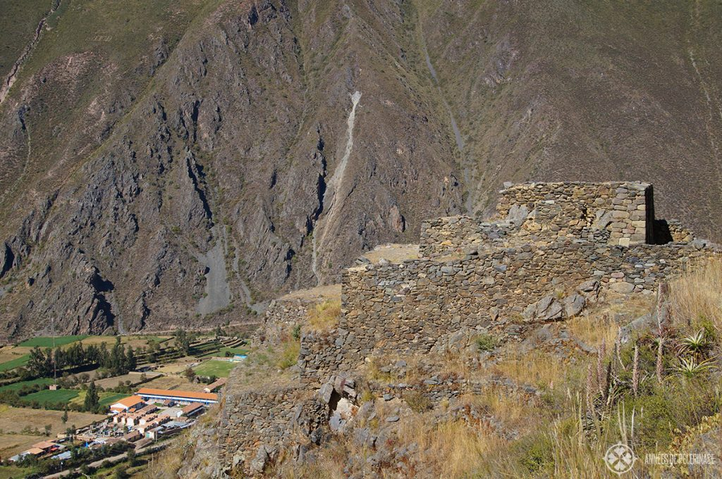 The intihuatana temple at the top of Ollantaytambo, Peru