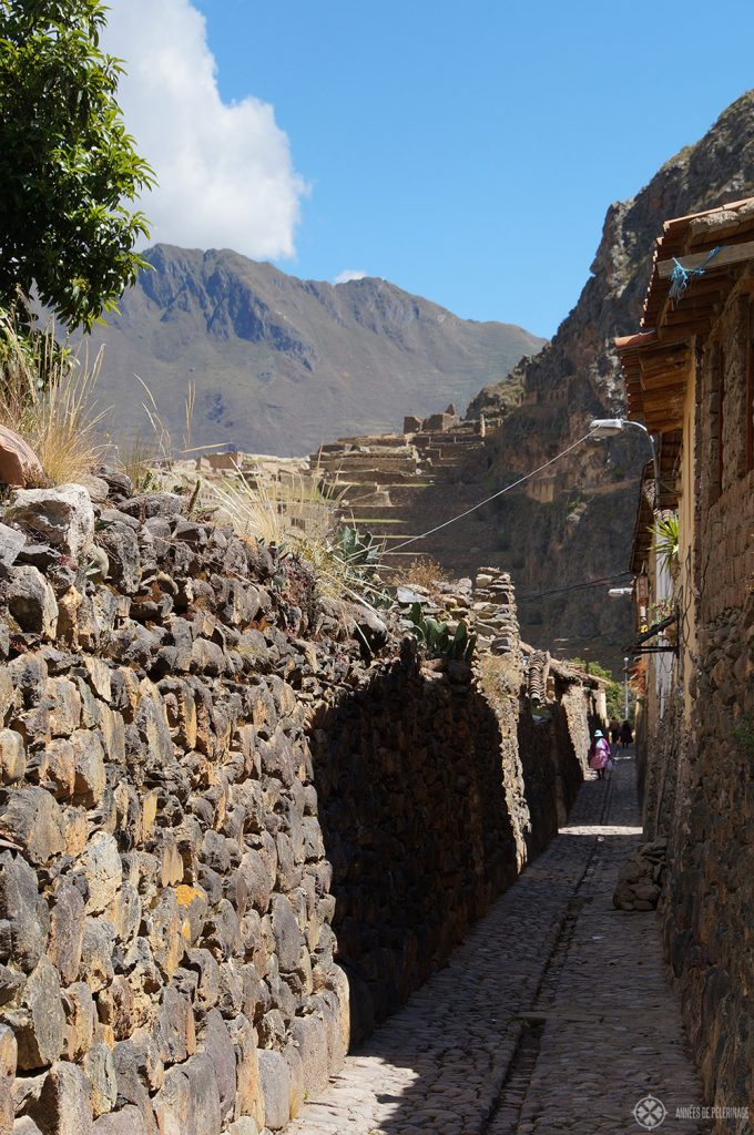 An ancient alley in Ollantaytambo, Peru