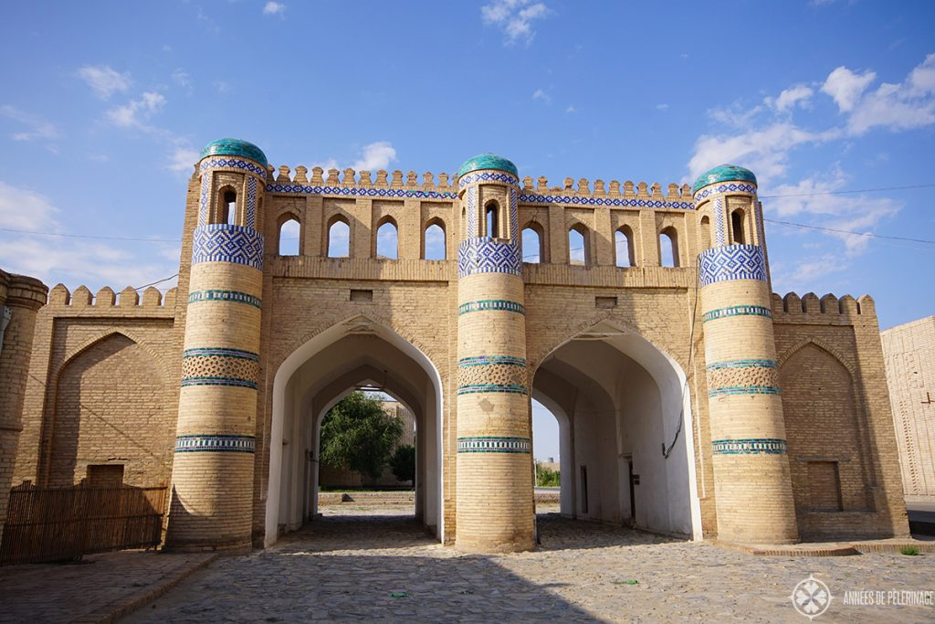 The outer city gates of Khiva, Uzbekistan (Qosh Dravoza)