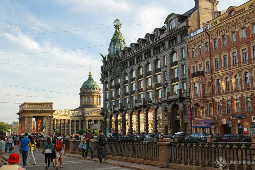 The famous singer building on Nevsyk Prospect in St. Petersburg, Russia