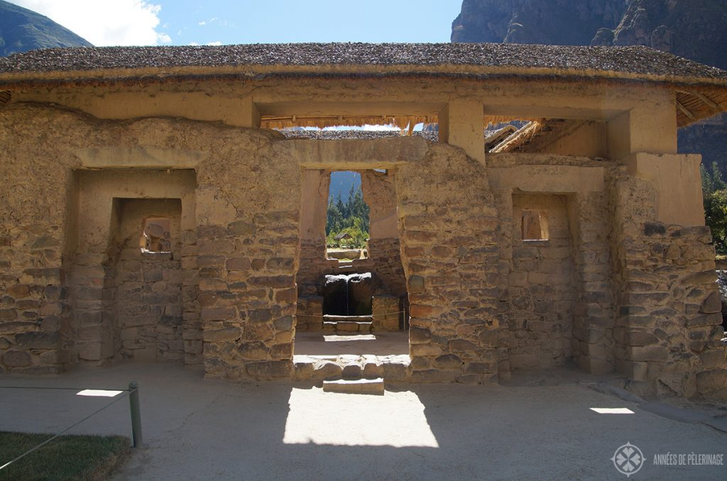 The Templo del Agua in Ollantaytambo, Peru