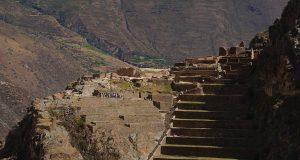 The ancient fortress ruin of Ollantaytambo in Peru