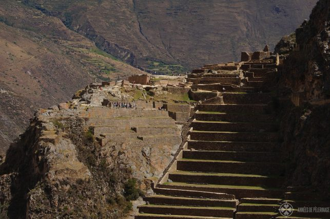 The ancient fortress ruin of Ollantaytambo in Peru only about 40 kilometers away from Cusco