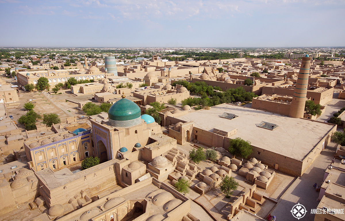 The view of Khiva from the Islam-Khodja complex