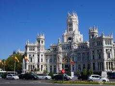 The Cibeles City hall in Madrid, Spain