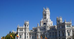 The Cibeles City hall in Madrid, Spain