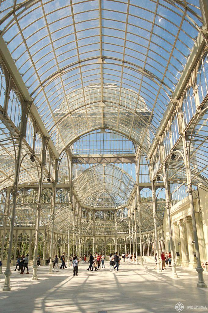 Palacio de Cristal in El Retiro Park Madrid