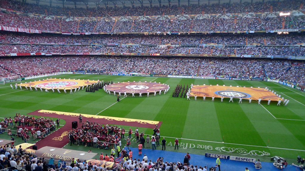 Champions league final at Santiago Bernabéu Stadium Madrid
