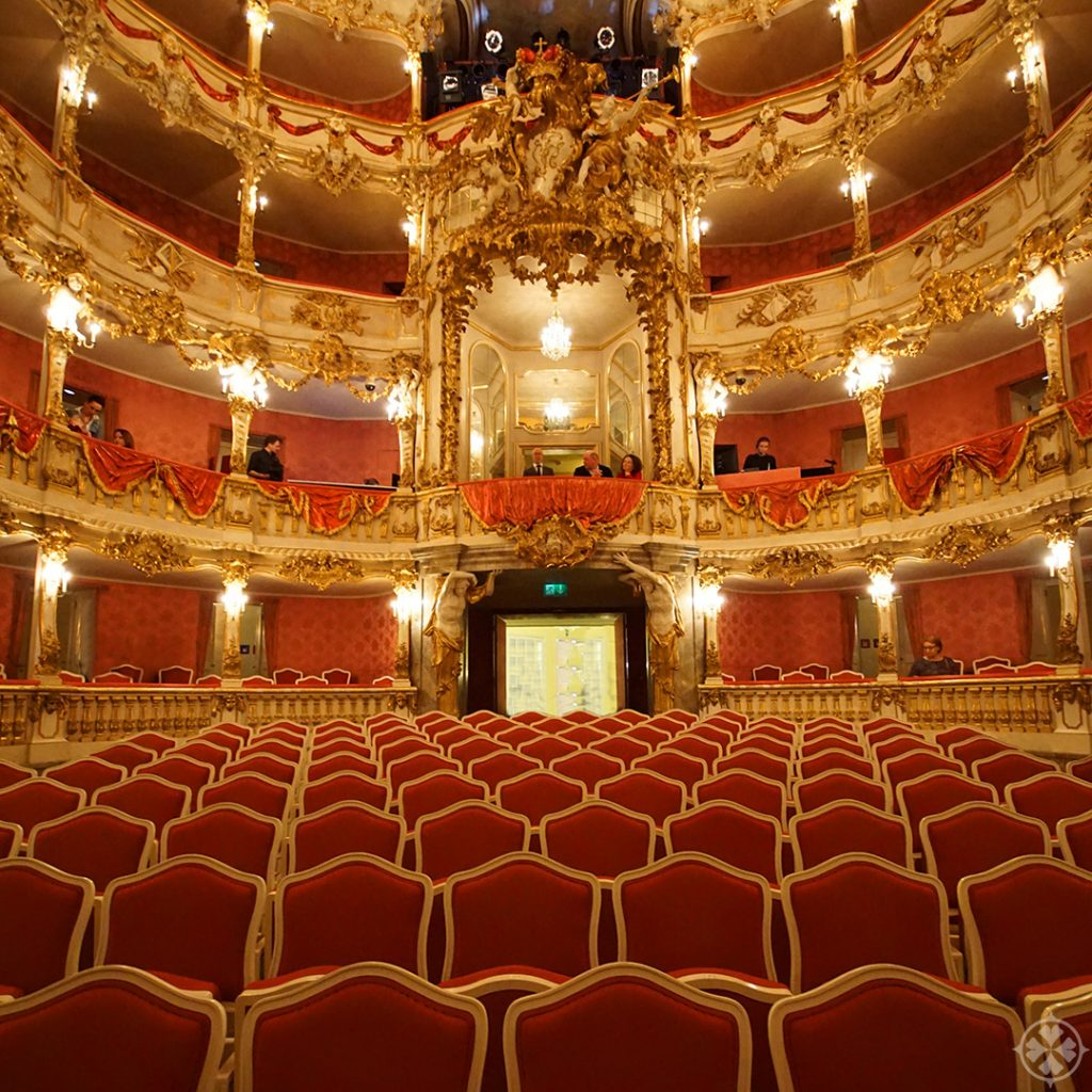 inside the Cuvilliés theater in Munich