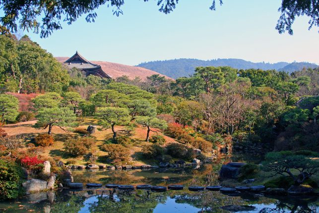 The magnificient gardens of the Isui-En in Nara, Japan