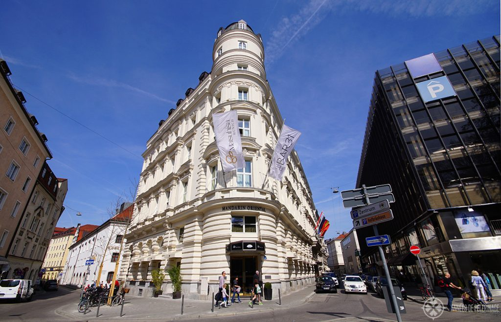 The Mandarin Orientel hotel near Marienplatz, Munich - the best hotel in the city center