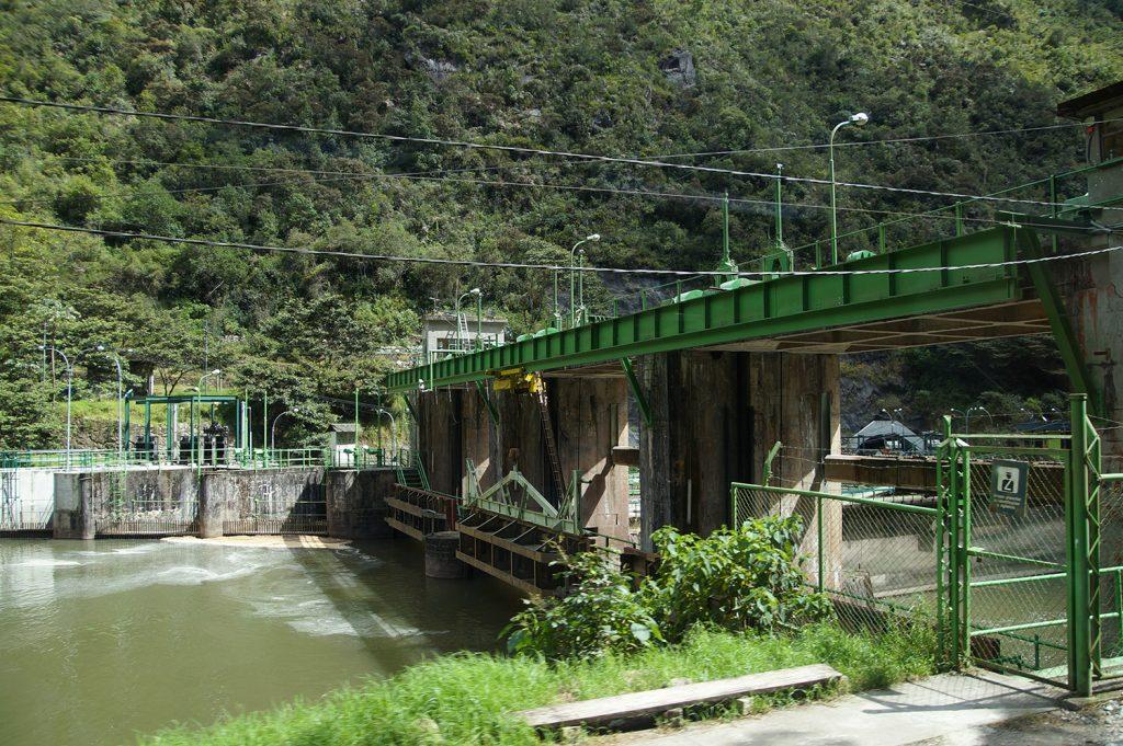 The Hidroelectrica bus stop close before Machu picchu