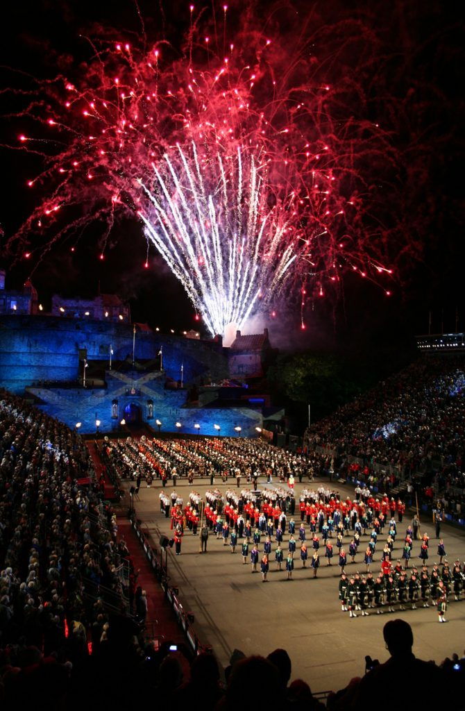 The Royal Edinburgh Military Tattoo, held in August