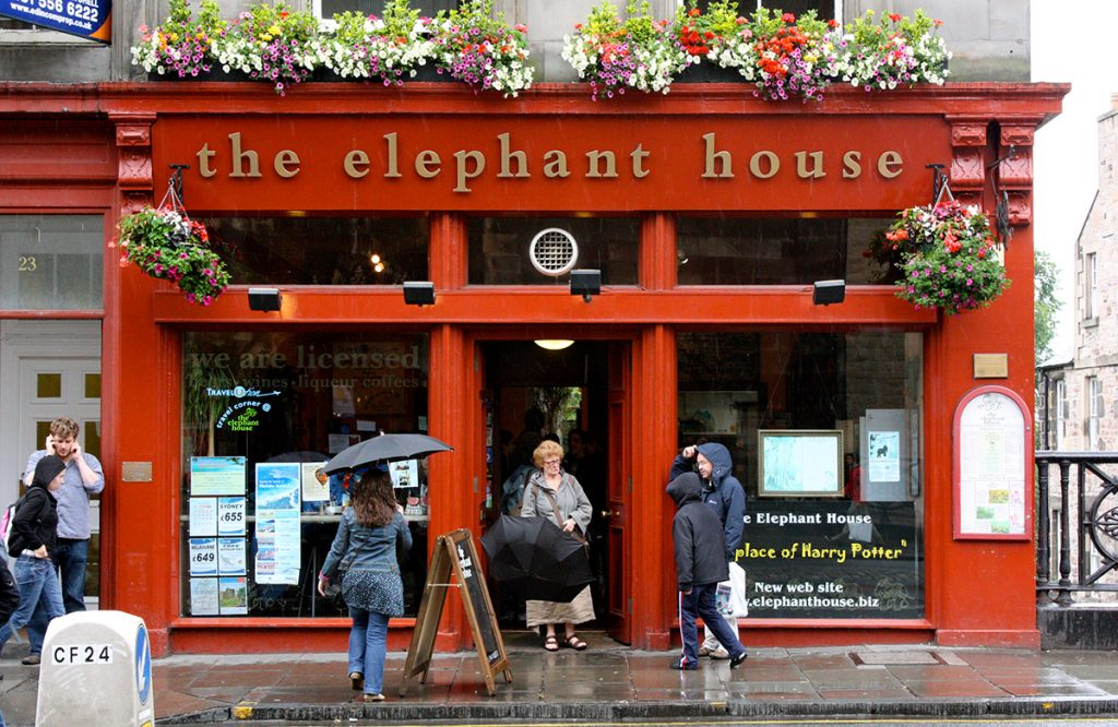 The elephant house, where JK rowling wrote the first Harry Potter novel