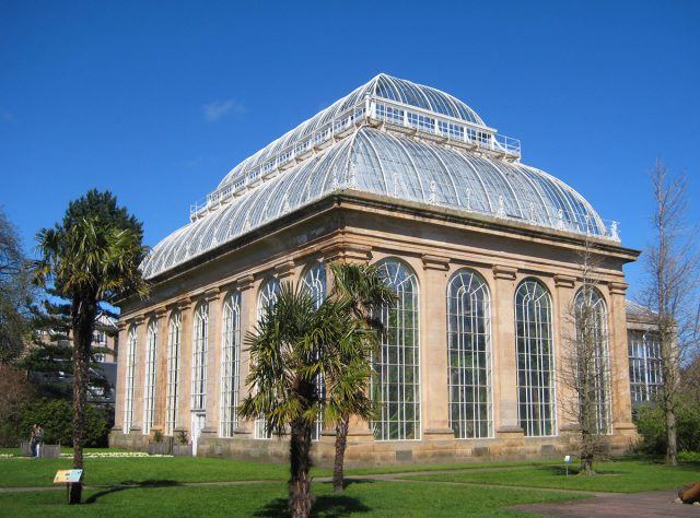 the palm house at the Royal Botanic Garden in Edinburgh, Scotland