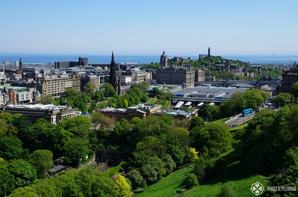 The view from the edinburgh castle in Scotland