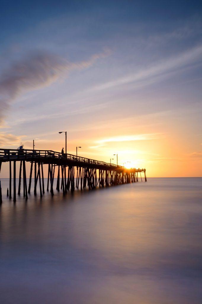 The pier at Nags Head Fishing Pier, North Carolina