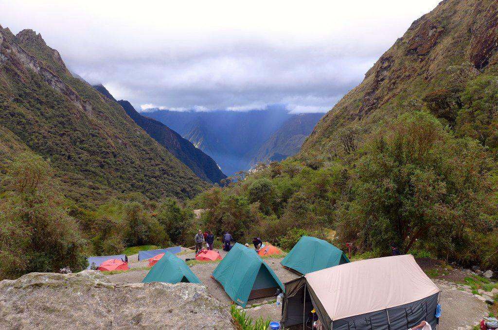 Camping in Machu Picchu, Peru