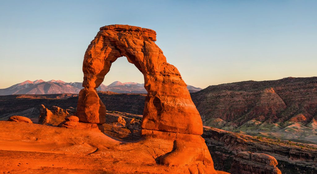 The delicate arch in Arches National Park, Utha, USA