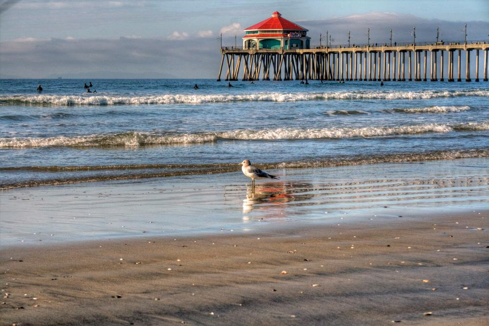 The pier at Huntington Beach, California