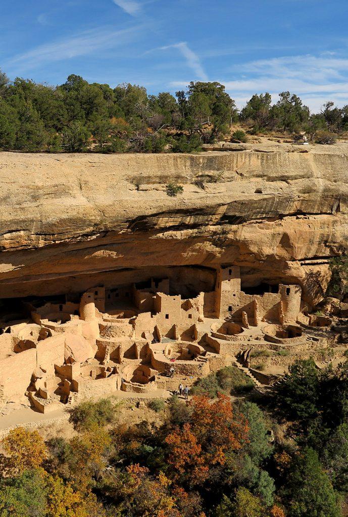 The Cliff Palace at Mesa Verde National Park, USA