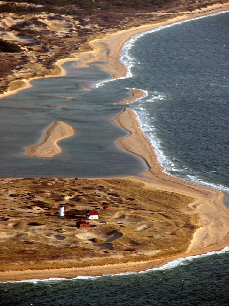 race point beach, virginia as seen from above