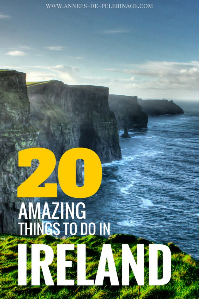 20 amazing things to do in Ireland. A comphrensive list of the most spectacular highlights and landmarks in Ireland. Explore the green island with this Ireland travel guide and don't miss any of the top tourist highlights. Click for more.