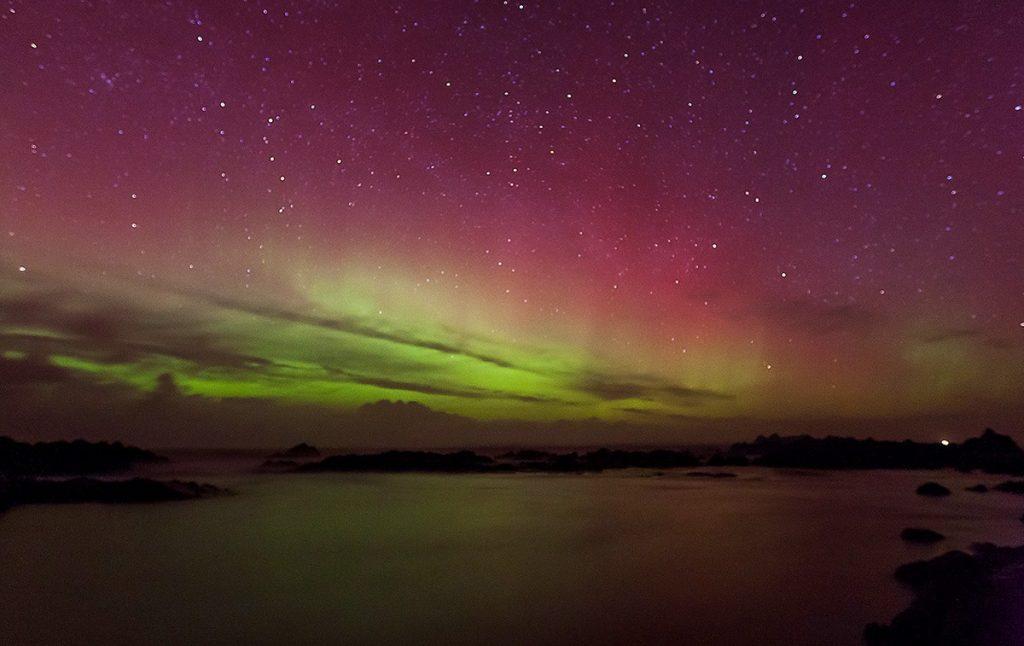 Norther Lights at Malin Head, Ireland