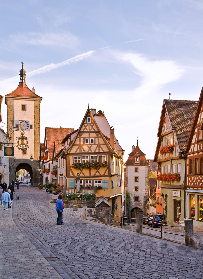 The so called Plönlein in Rothenburg ob der Tauber, Germany