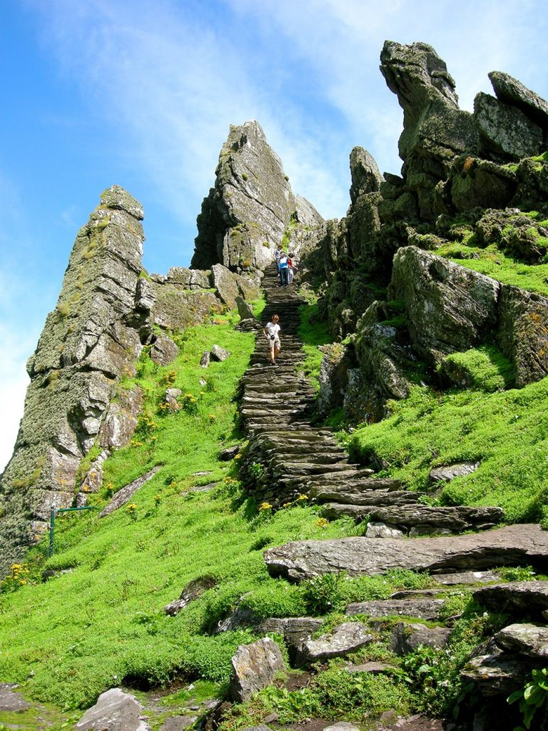 The steps leading up to the monastic site at Skellig Michael, Ireland