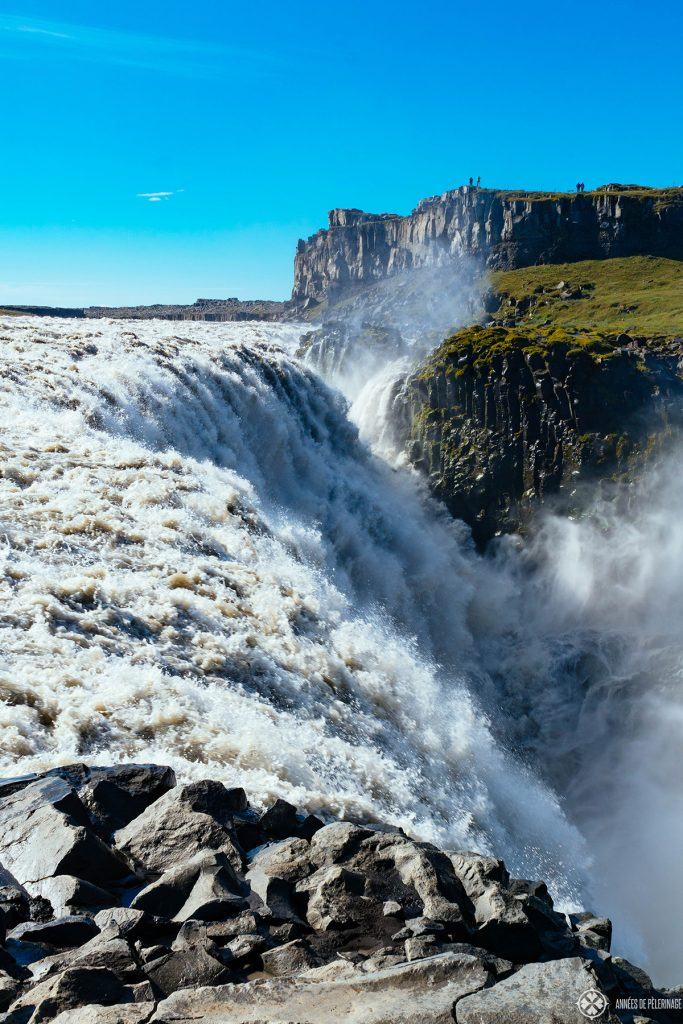 The giant Dettifoss waterfalls in the north of Iceland