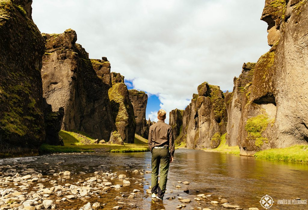 Me walking through the Fjaðrárgljúfur caonyon in Iceland