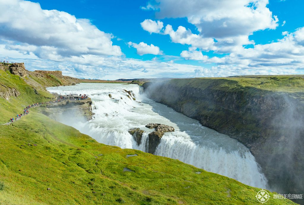 The Gullfoss waterfalls on the Golden Circle - one of the many things to do in Iceland