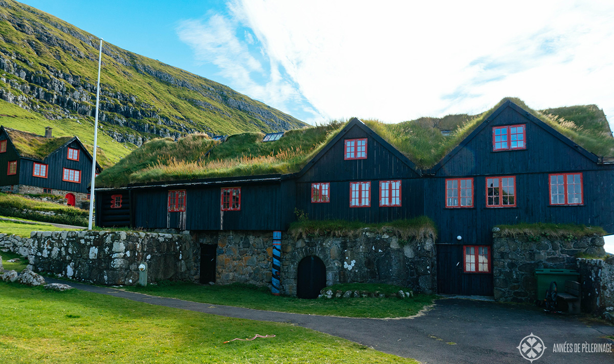 The ancient wooden house of Kirkjubøargarður in the Faroe Islands