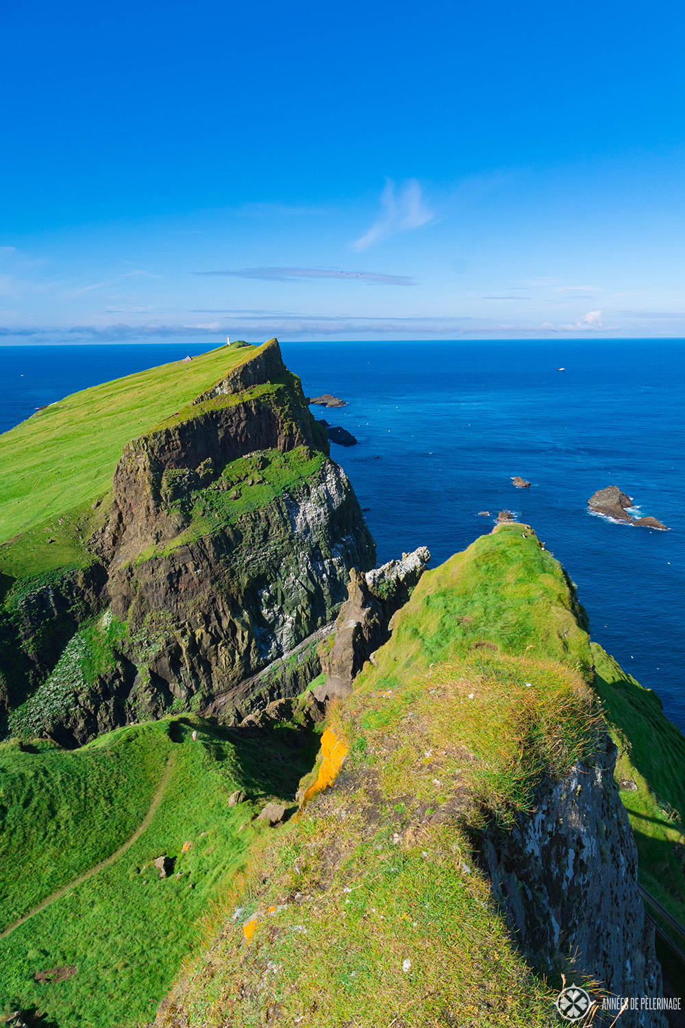 The island of Mykines in the Faroe Islands